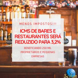 Menos imposto: Estado de São Paulo reduz ICMS para bares e restaurantes