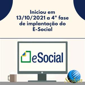 4ª fase de implantação do E-Social